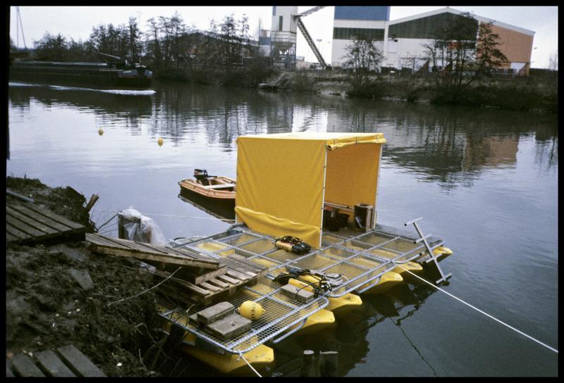 Vue de l'aménagement du ponton (fouille AFAN).