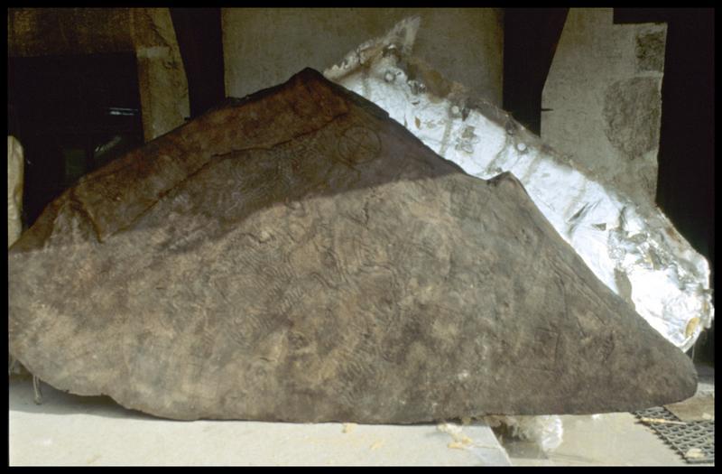Vue du moulage terminé (fouille Musée Savoisien).