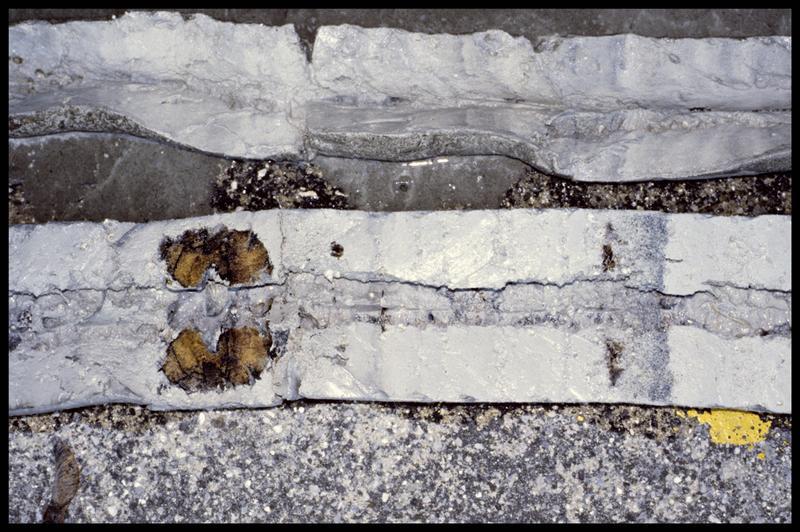 Vue de détail d'une carotte (fouille Y. Billaud/Drassm).