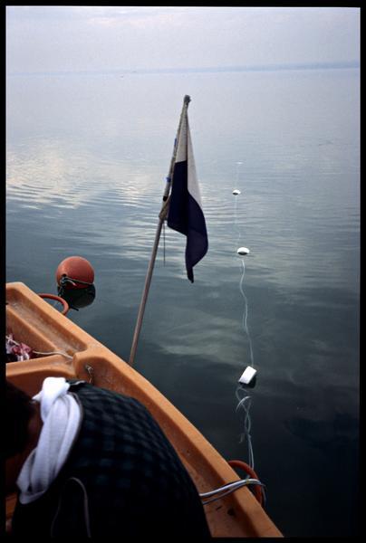 Vue du fil flottant du sondeur (fouille A. Marguet/Drassm).