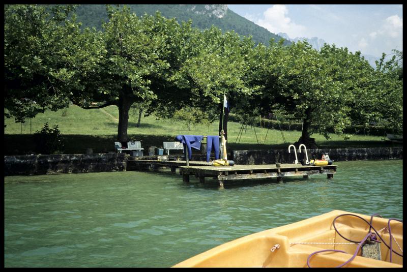 Vue du ponton (fouille A. Marguet/Drassm).