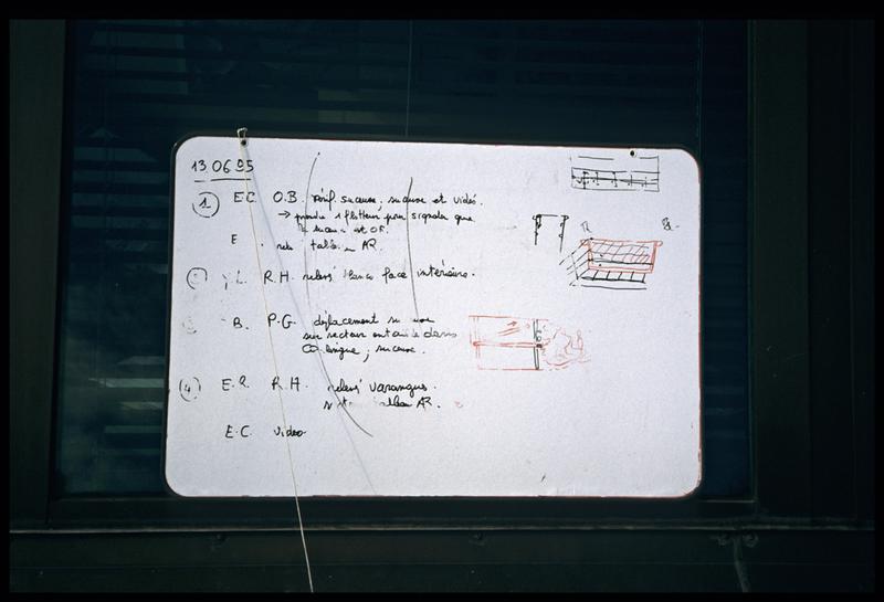 Vue du tableau de travail de la journée du 13 juin 1995 (fouille E. Rieth).