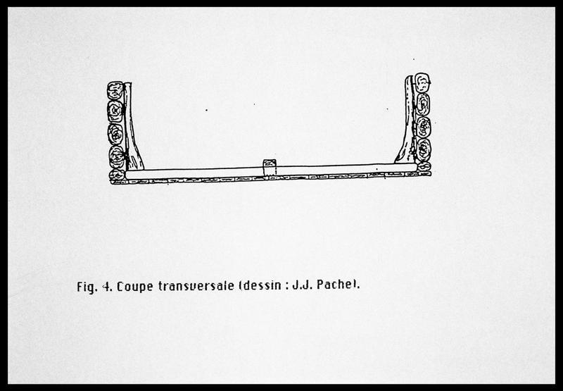 Vue du dessin de la coupe transversale (fouille E. Rieth).