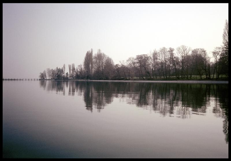 Vue de la rive du lac Léman (fouille A. Marguet/Drassm).