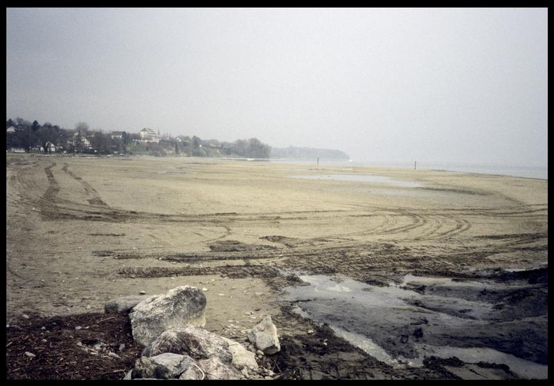 Vue de la plage dunaire de Coudrée (fouille A. Marguet/Drassm).