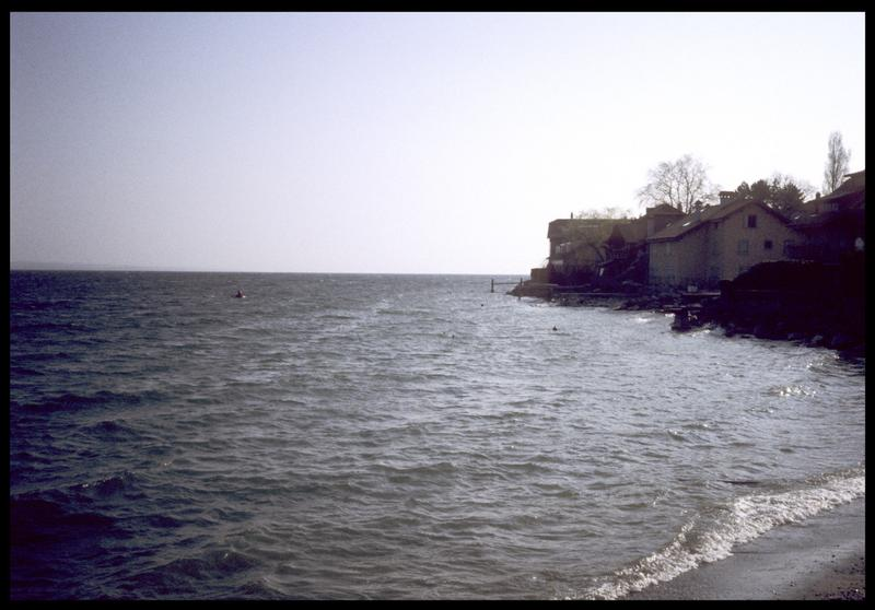 Vue de la rive du Léman (fouille A. Marguet/Drassm).