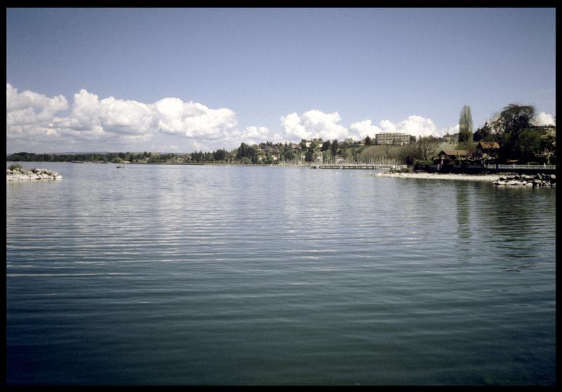 Vue de la sortie du port de Thonon (fouille A. Marguet/Drassm).