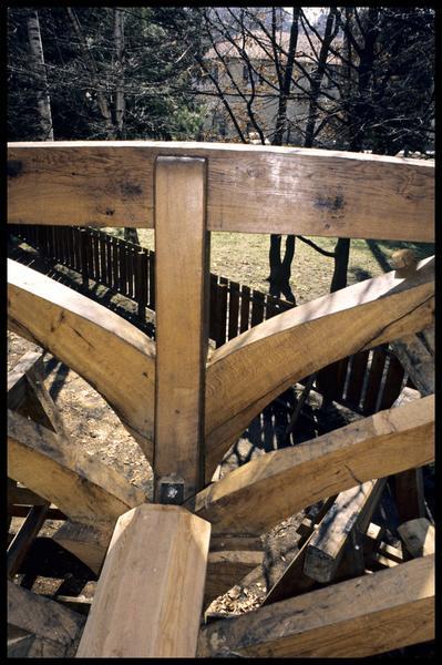 Vue de détail de la carène de la Savoie en cours de construction.