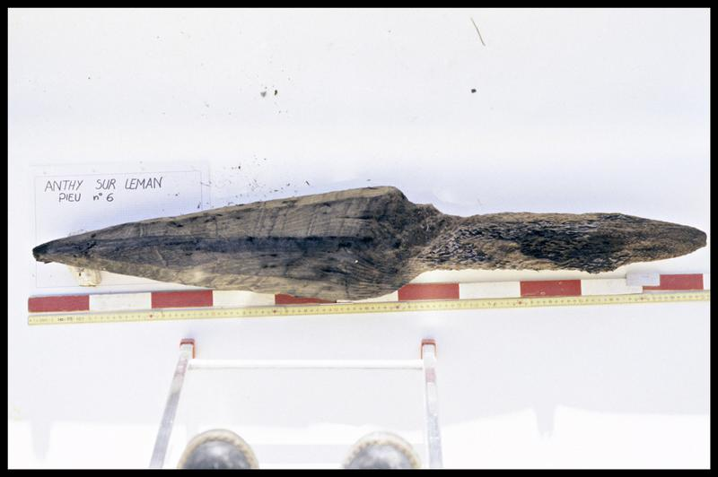 Vue du pieu de bois 06 (fouille A. Marguet/Drassm).