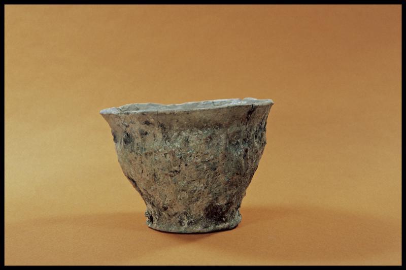 Vue d'un gobelet de céramique (fouille C. Dupont).