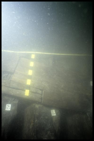 Vue sous-marine des allonges 52 et 53 (fouille E. Rieth).