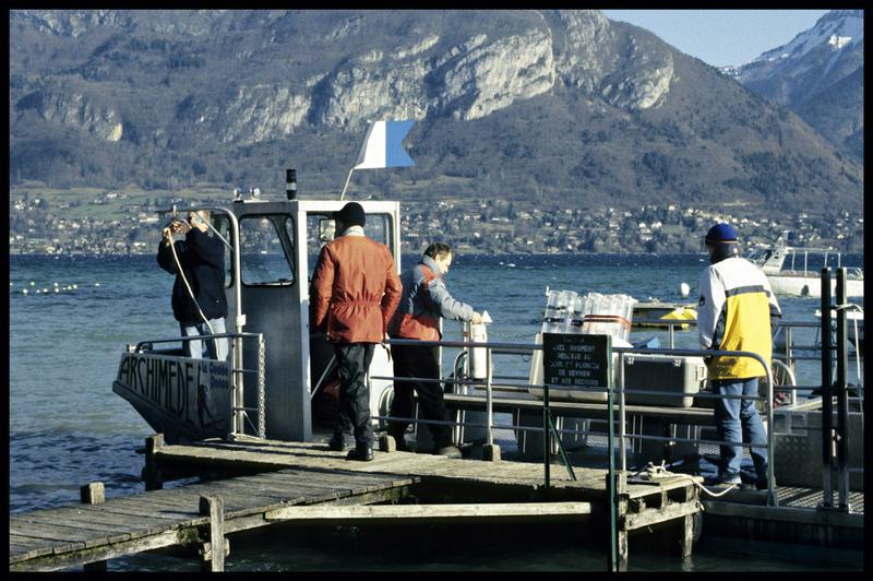 Vue de l'Archimède à quai (fouille CNRAS).