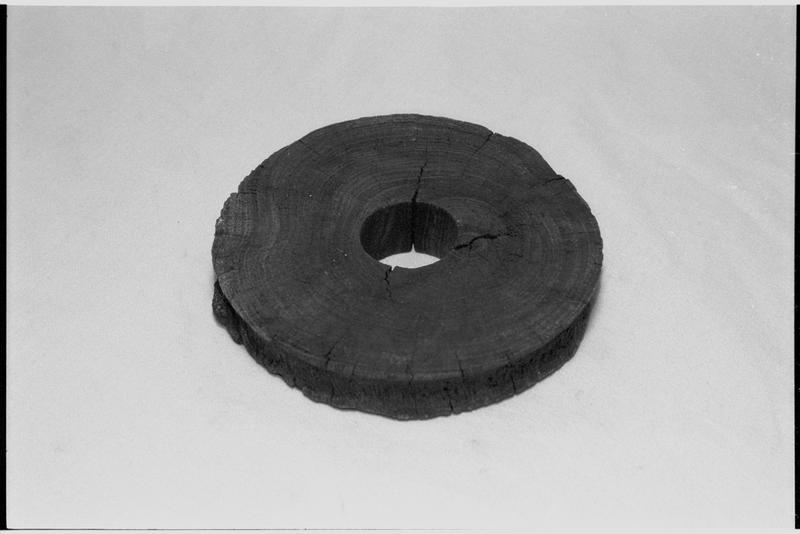 Vue d'un disque de réa de bois (fouille M. L'Hour/Drassm).