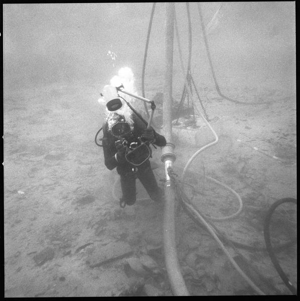 Vue sous-marine du photographe (fouille R. Lequément).