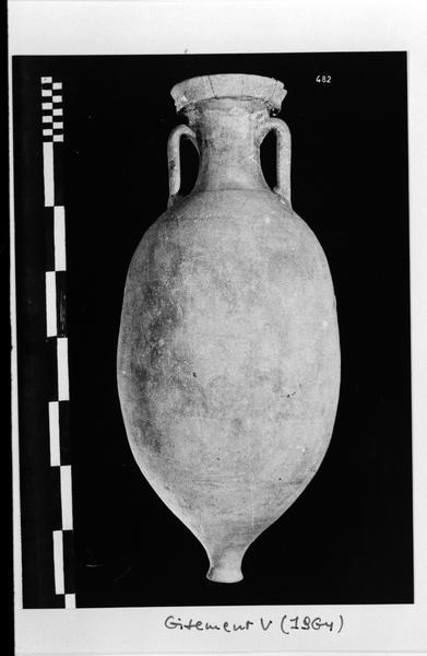 Vue d'une amphore Dressel 10 (fouille D. Fonquerle).