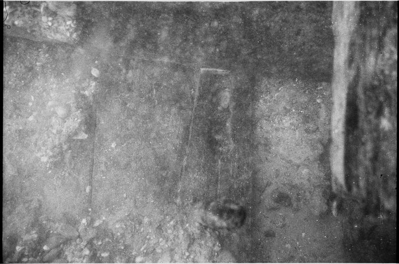 Vue sous-marine de détail de la carène (fouille M. L'Hour/Drassm).