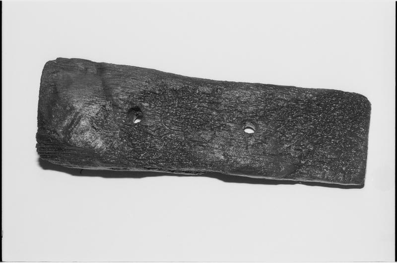 Vue d'une cale de bois (fouille M. L'Hour/Drassm).