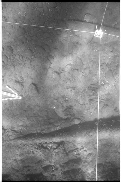 Vue sous-marine de la planimètrie de la carène (fouille L. Long/Drassm).