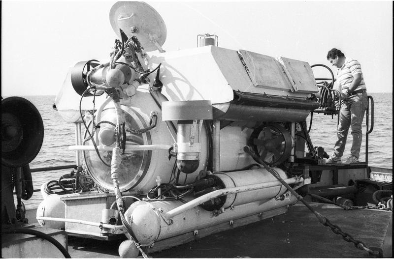 Vue du sous-marin Nérée (fouille L. Long/Drassm).