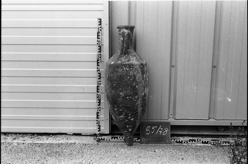 Vue du profil d'une amphore Dressel 2/4.