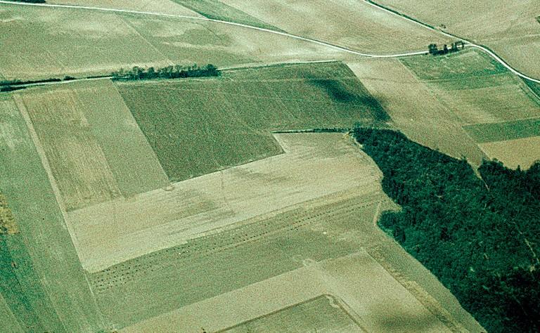 Villa gallo-romaine à cour orientée à l'est.