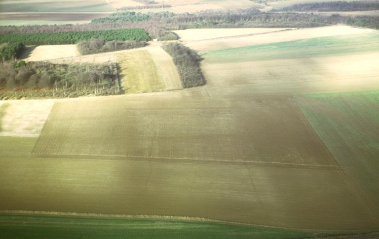 Site matérialisé par des lignes parallèles. Les prospections ont livré quelques artefacts lithiques et des tessons protohistoriques.