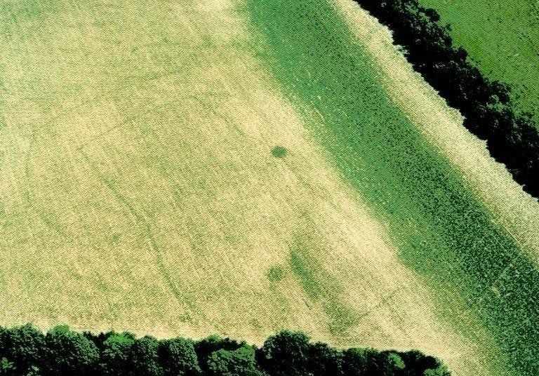 Ferme indigène constituée d'un enclos rectangulaire inscrit dans un enclos régulier.