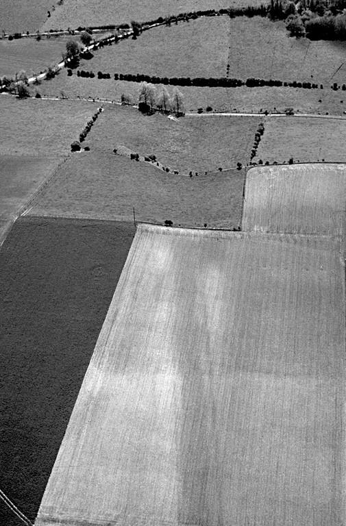 Ancien chemin creux rectiligne bordé de deux fossés parallèles de direction nord-ouest/sud-est.