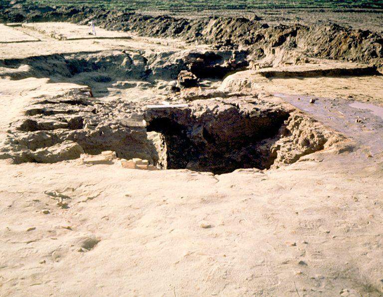 Four 11. Ce four, entièrement édifié en tuiles, appartient au type rectangulaire à sole supportée par des supports reliés entre eux par des arcs de voûte. La chambre de chauffe est simplement aménagée dans le substrat sableux, sans murs externes maçonnés. L'ensemble de la fosse de creusement mesure 11,35 de long. Selon l'étude archéomagnétique il est daté de 290 + 15 ap.J.C.