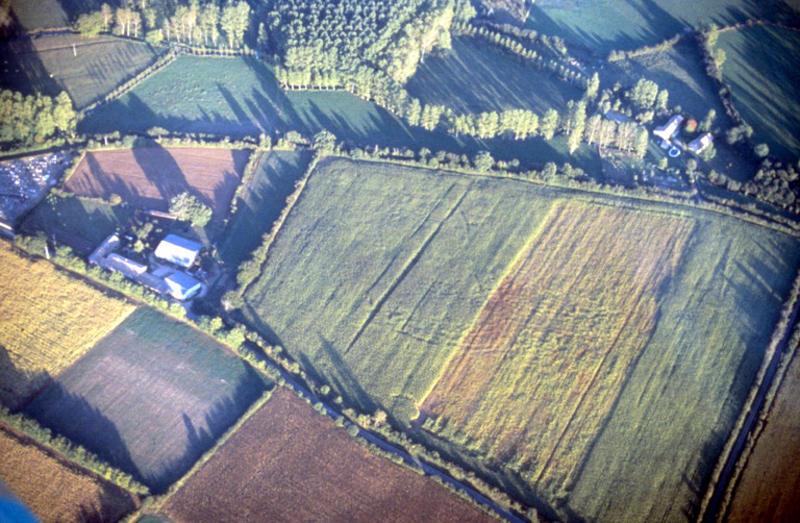 Traces de substructions arasées (gallo-romaines ?).