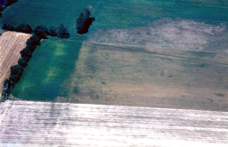 Bâtiment sur poteaux, fosses, fossés, aire d'habitat.
