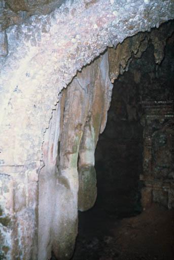 Vue de l'arche centrale, prise du centre.
