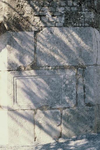 Vue de l'inscription.