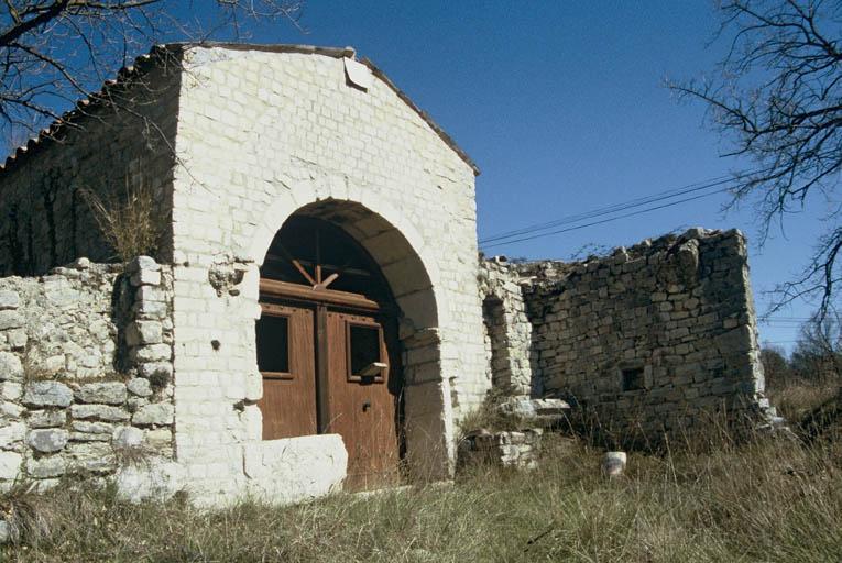 Vue de la façade sud.