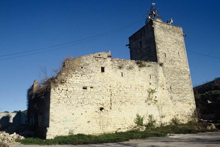 Vue générale : façade ouest.