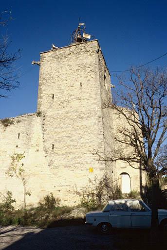 Vue générale : angle sud-ouest ; tour de l'Horloge.