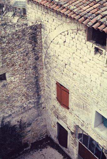 Vue générale : façade occidentale du donjon.