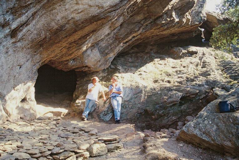 Vue de la grotte.