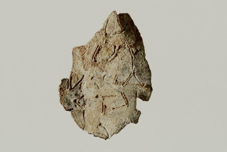 Inscriptions divinatoires sur feuille de bronze