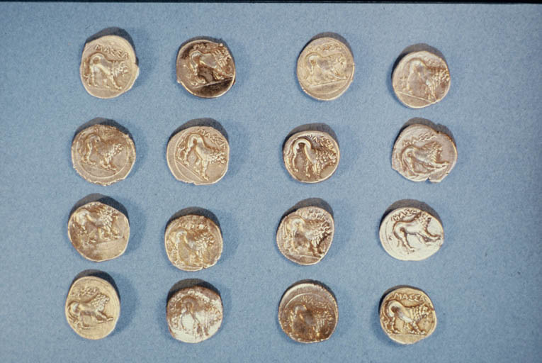 Monnaies marseillaises : les 16 drachmes lourdes de Marseille (revers)