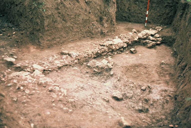 Vue rapprochée des fouilles.