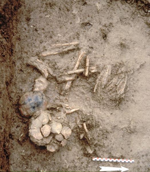 Nécropole ; dolmen : nécropole tumulaire et sépulture ovale