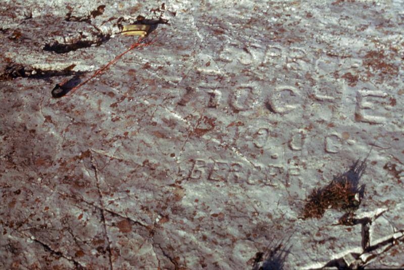 Grotte ornée : gravure rupestre