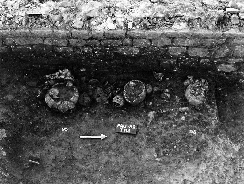 Nécropole : enclos et incinération