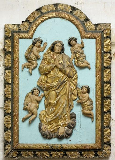Bas-relief (panneau sculpté) : l'Assomption
