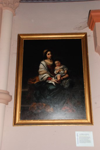 Tableau et son cadre : La Vierge au chapelet