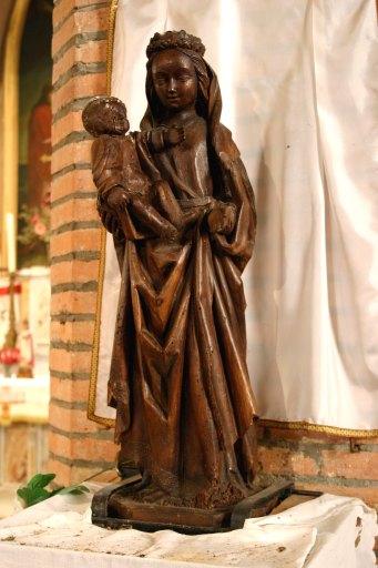 Statue (statuette, d'applique) : Vierge à l'Enfant