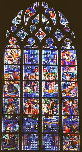Verrière figurée : Vie de saint Florent