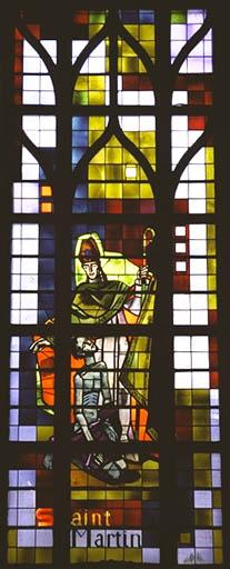 Verrière figurée : Saint Martin