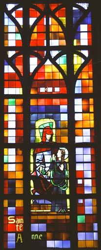 Verrière figurée : Sainte Anne et la Vierge